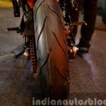KTM RC200 rear tire at the Indian launch