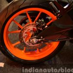 KTM RC200 rear wheel at the Indian launch