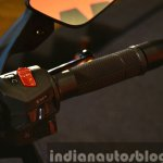 KTM RC200 throttle at the Indian launch