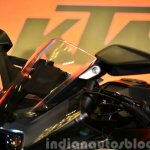 KTM RC200 visor at the Indian launch