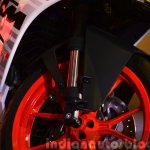 KTM RC390 front suspension at the Indian launch