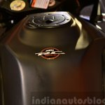KTM RC390 fuel tank from pillion at the Indian launch