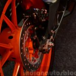 KTM RC390 rear disc brake close up at the Indian launch