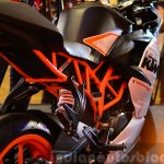 KTM RC390 rear frame section view at the Indian launch
