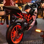 KTM RC390 rear three quarters at the Indian launch