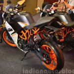 KTM RC390 rear three quarters left at the Indian launch