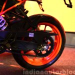 KTM RC390 rear wheel at the Indian launch