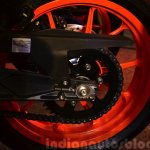 KTM RC390 sprocket at the Indian launch