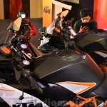 KTM RC390 tank side view at the Indian launch