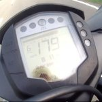 KTM RC390 top speed real world screen capture