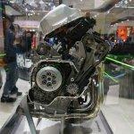 Kawasaki Ninja H2R engine side at INTERMOT 2014