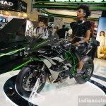 Kawasaki Ninja H2R front three quarters angle at INTERMOT 2014