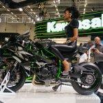 Kawasaki Ninja H2R side profile at INTERMOT 2014