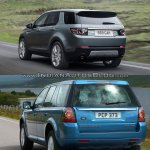 Land Rover Discovery Sport vs Freelander rear