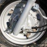 Mahindra Gusto review front wheel