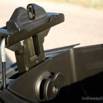 Mahindra Gusto review height adjustor at maximum position