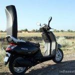 Mahindra Gusto review rear hinged seat