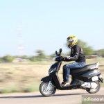 Mahindra Gusto review tracking shot side