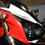 Mahindra Mojo at the 2014 Nepal AutoShow headlamp