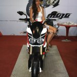 Mahindra Mojo front at the 2014 Nepal AutoShow