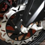 Mahindra Mojo front disc brake at the 2014 Nepal Auto Show