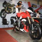 Mahindra Mojo front three quarter at the 2014 Nepal AutoShow