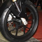 Mahindra Mojo front wheel at the 2014 Nepal AutoShow