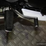 Mahindra Mojo gear lever at the 2014 Nepal Auto Show
