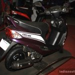Mahindra Rodeo UZO 125 viollet rear three quarter at the 2014 Nepal AutoShow