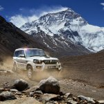 Mahindra Scorpio front mountain background image gallery