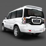 Mahindra Scorpio rear three quarters image gallery