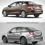 Maruti Ciaz vs Maruti SX4 rear quarter