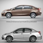 Maruti Ciaz vs Maruti SX4 side
