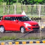 Maruti Swift facelift spied India front quarter