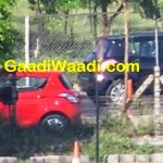 Maruti Swift facelift spied India side
