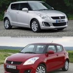 Maruti Swift facelift vs older model front