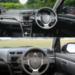 Maruti Swift facelift vs older model interior