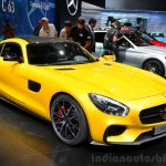 Mercedes AMG GT front three quarter at the 2014 Paris Motor Show