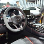 Mercedes AMG GT full black interior at the 2014 Paris Motor Show