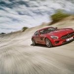 Mercedes AMG GT press image on track