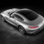 Mercedes AMG GT press image rear three quarter top view