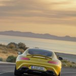 Mercedes AMG GT press image yellow rear