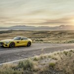 Mercedes AMG GT press image yellow
