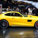 Mercedes AMG GT yellow side at the 2014 Paris Motor Show