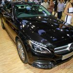 Mercedes C Class front three quarters at the Indonesia International Motor Show 2014