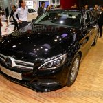 Mercedes C Class front three quarters right at the Indonesia International Motor Show 2014