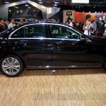 Mercedes C Class side at the Indonesia International Motor Show 2014