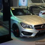 Mercedes CLA 45 AMG front three quarter at the Philippines International Motor Show 2014