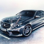 Mercedes E 350 CDI invitation clipping