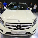 Mercedes GLA front at the Indonesia International Motor Show 2014